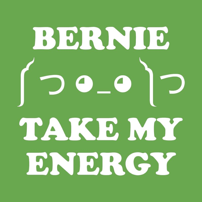 Bernie Take My Energy (White) Men's Zip-Up Hoody by Bernie Threads