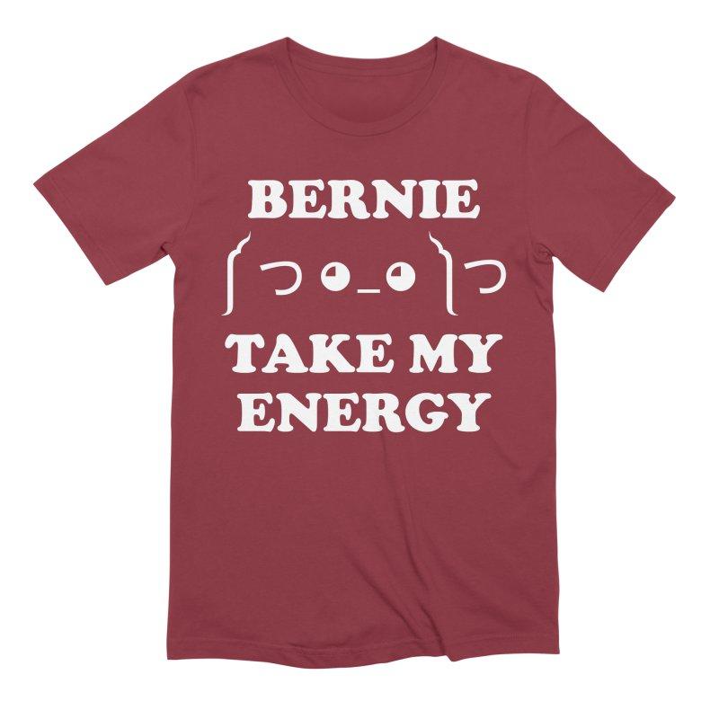 Bernie Take My Energy (White) Men's Extra Soft T-Shirt by Bernie Threads