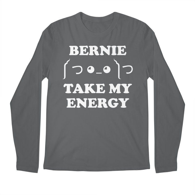 Bernie Take My Energy (White) Men's Longsleeve T-Shirt by Bernie Threads