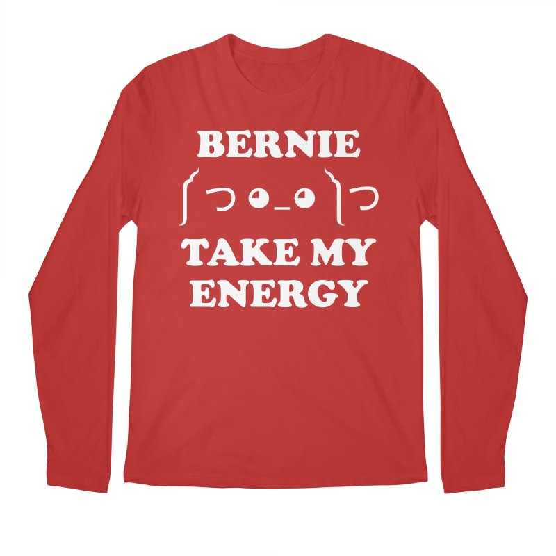 Bernie Take My Energy (White) Men's Regular Longsleeve T-Shirt by Bernie Threads
