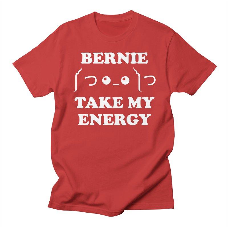 Bernie Take My Energy (White) Women's Regular Unisex T-Shirt by Bernie Threads