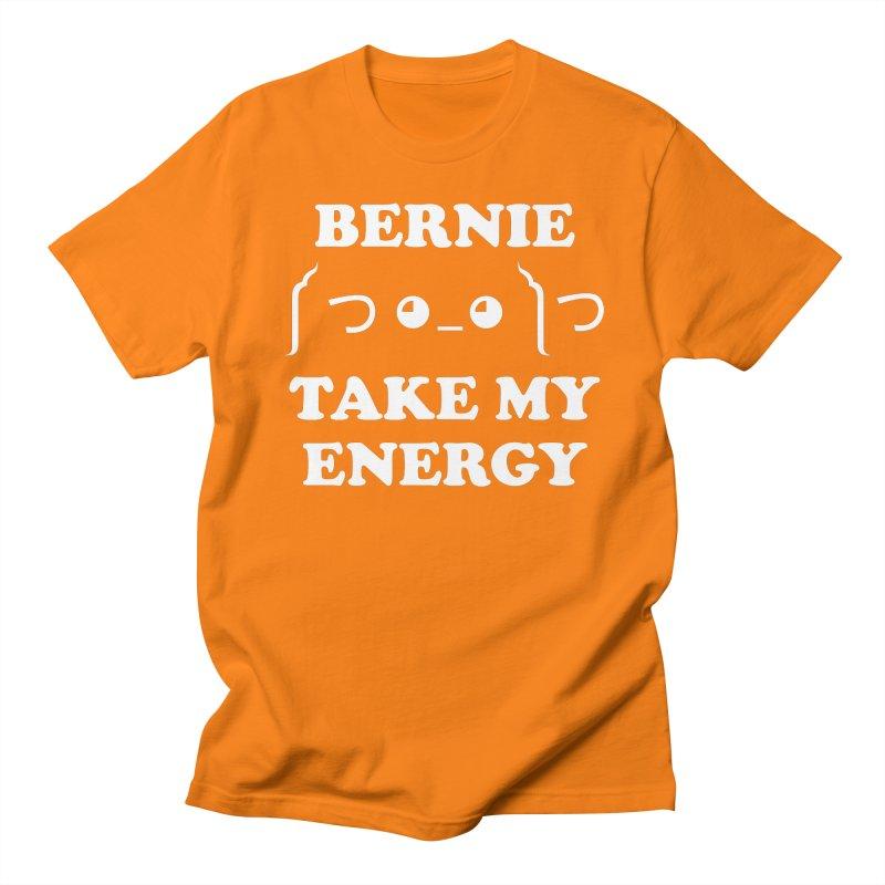 Bernie Take My Energy (White) Men's Regular T-Shirt by Bernie Threads