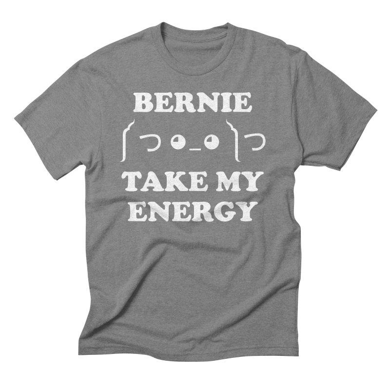 Bernie Take My Energy (White) Men's Triblend T-Shirt by Bernie Threads