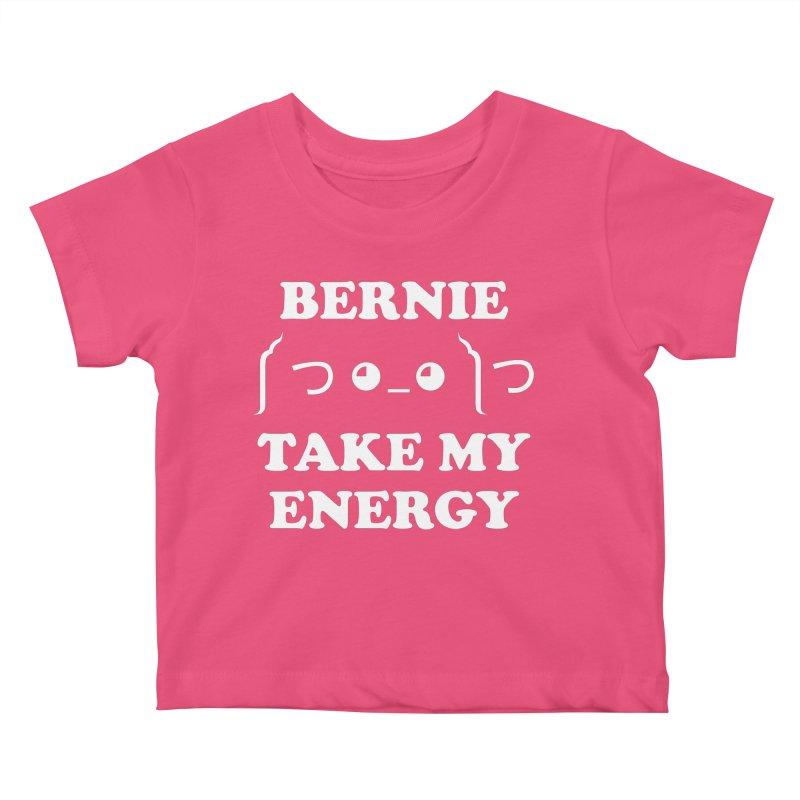 Bernie Take My Energy (White) Kids Baby T-Shirt by Bernie Threads