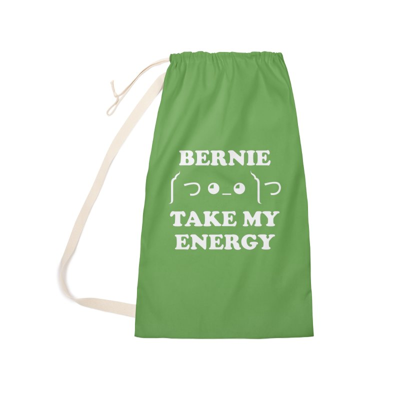 Bernie Take My Energy (White) Accessories Laundry Bag Bag by Bernie Threads