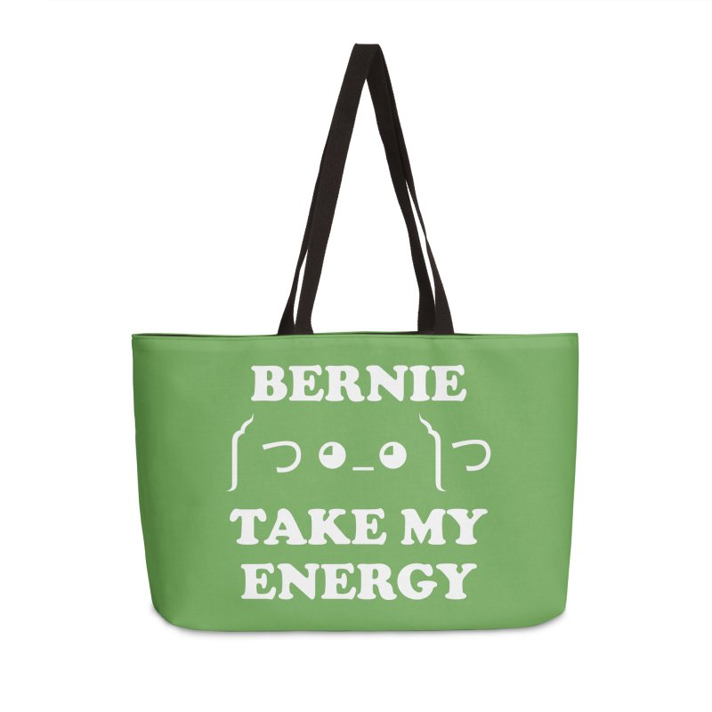 Bernie Take My Energy (White) Accessories Weekender Bag Bag by Bernie Threads
