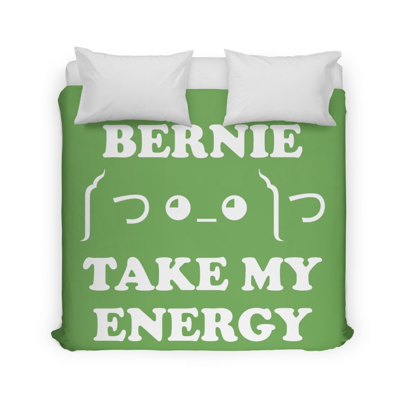 Bernie Take My Energy (White) Home Duvet by Bernie Threads