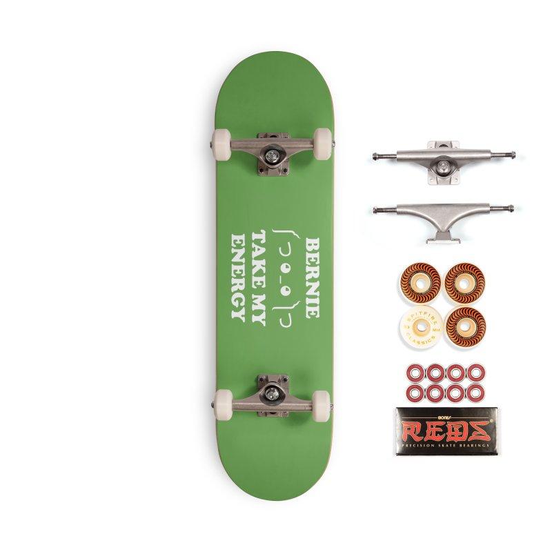Bernie Take My Energy (White) Accessories Skateboard by Bernie Threads