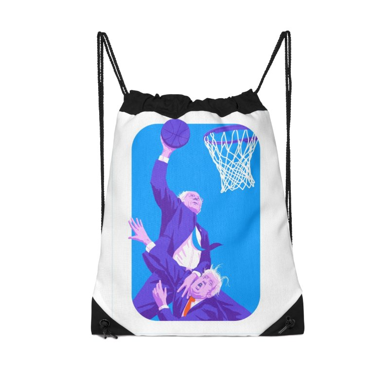 Bernie Dunks On Trump Accessories Drawstring Bag Bag by Bernie Threads