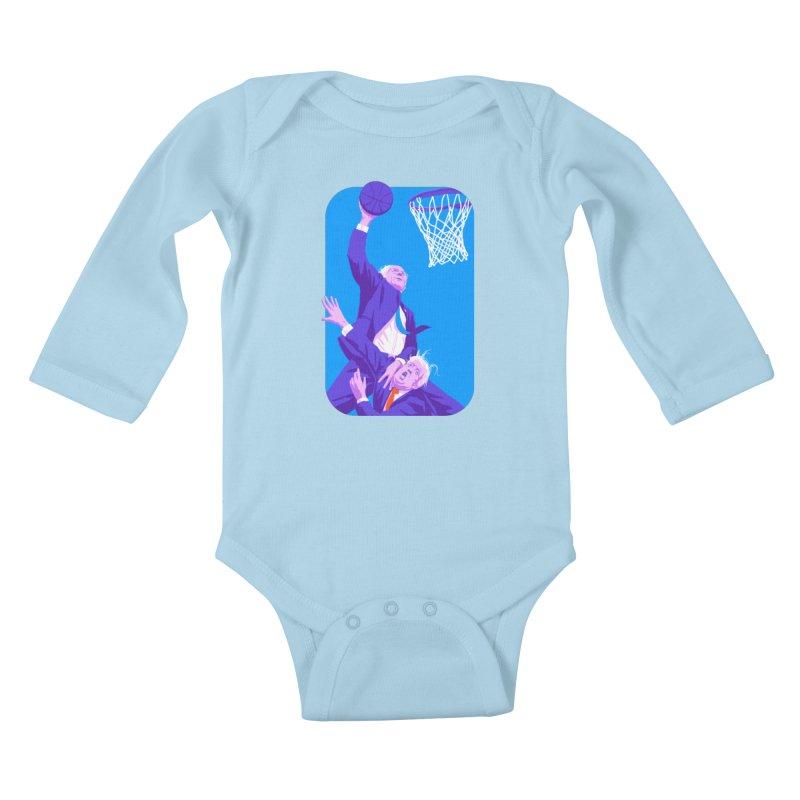 Bernie Dunks On Trump Kids Baby Longsleeve Bodysuit by Bernie Threads