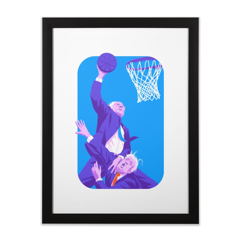 Bernie Dunks On Trump Home Framed Fine Art Print by Bernie Threads