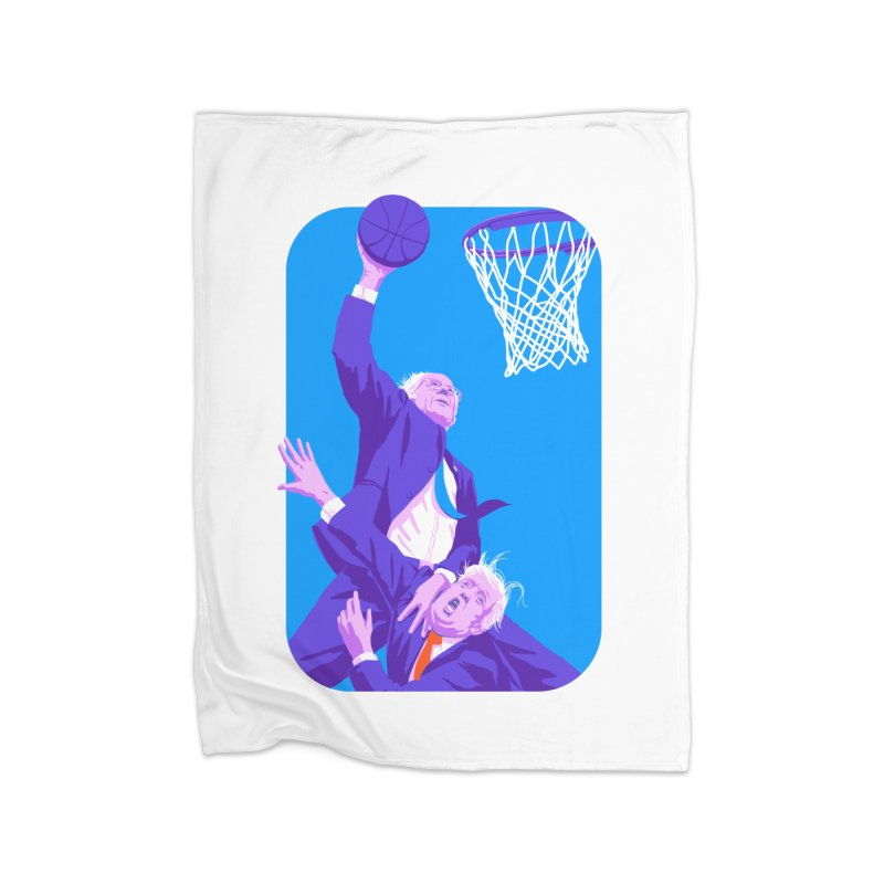 Bernie Dunks On Trump Home Fleece Blanket Blanket by Bernie Threads