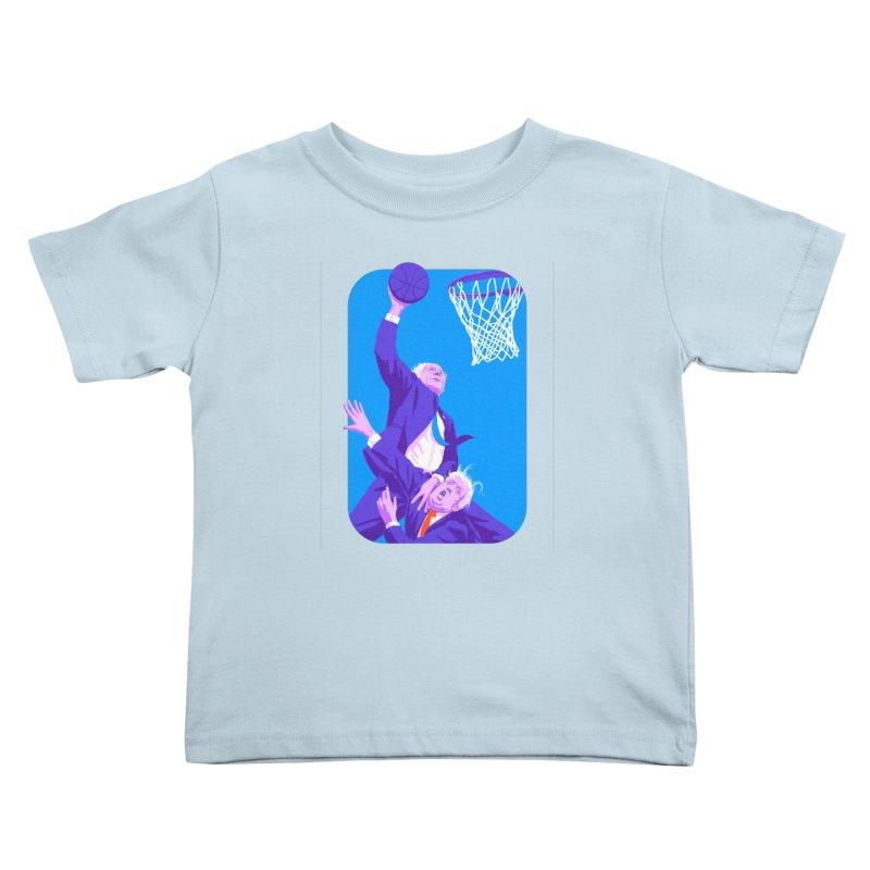 Bernie Dunks On Trump Kids Toddler T-Shirt by Bernie Threads