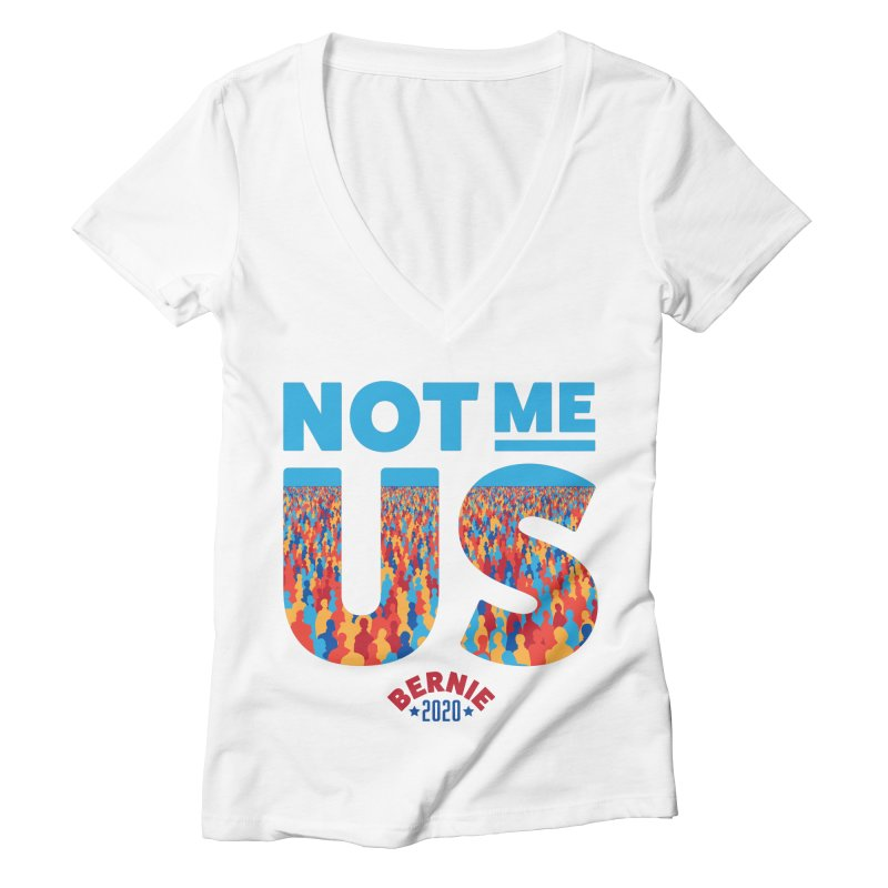 Not Me, Us 2020 (Text Version) Women's Deep V-Neck V-Neck by Bernie Threads