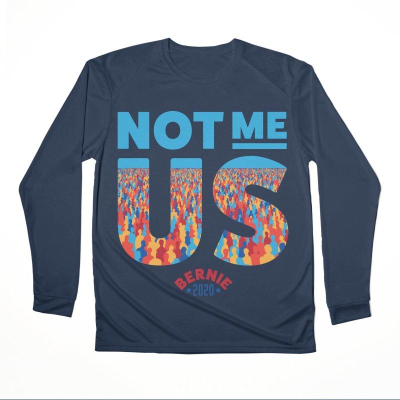 Not Me, Us 2020 (Text Version) Men's Performance Longsleeve T-Shirt by Bernie Threads
