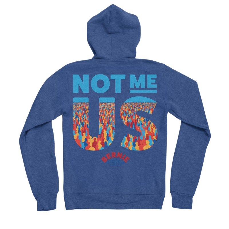 Not Me, Us 2020 (Text Version) Men's Sponge Fleece Zip-Up Hoody by Bernie Threads