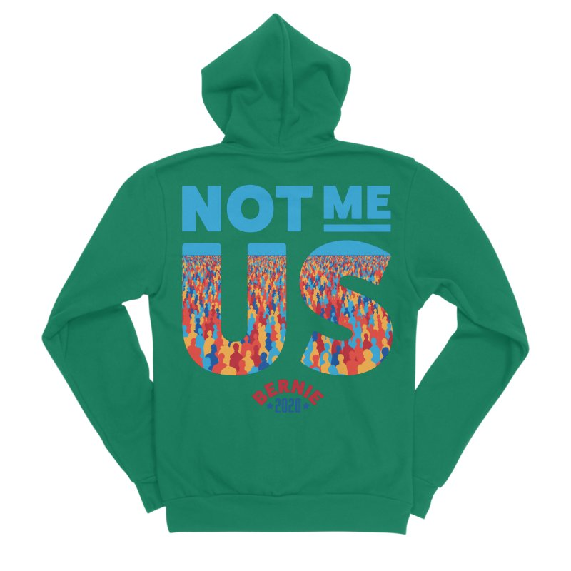 Not Me, Us 2020 (Text Version) Men's Sponge Fleece Zip-Up Hoody by Bernie Threads