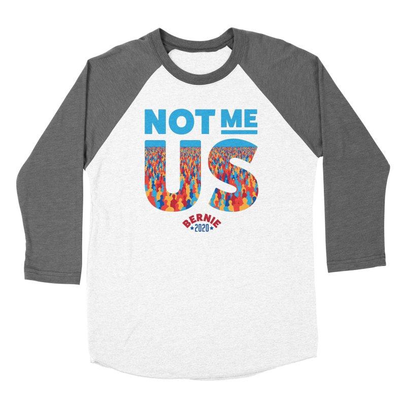 Not Me, Us 2020 (Text Version) Men's Baseball Triblend Longsleeve T-Shirt by Bernie Threads