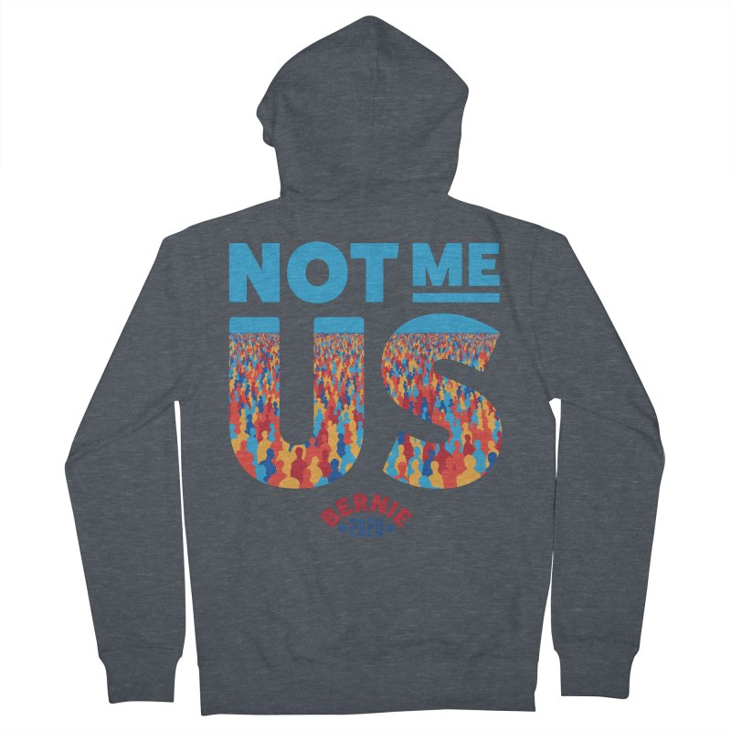 Not Me, Us 2020 (Text Version) Men's French Terry Zip-Up Hoody by Bernie Threads