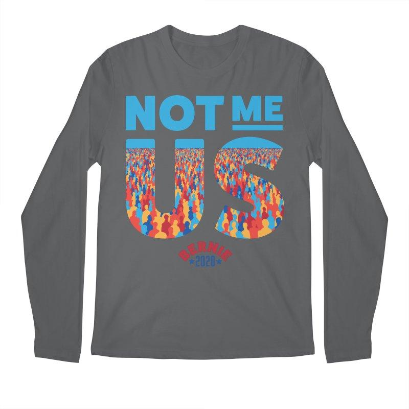 Not Me, Us 2020 (Text Version) Men's Longsleeve T-Shirt by Bernie Threads