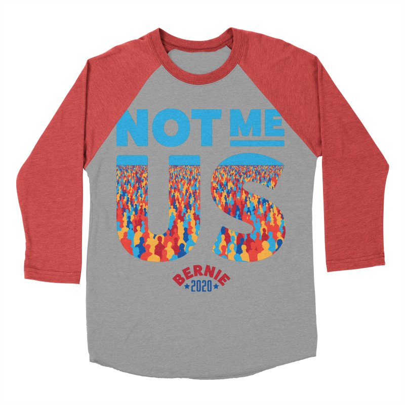 Not Me, Us 2020 (Text Version) Men's Baseball Triblend Longsleeve T-Shirt by Bernie Threads