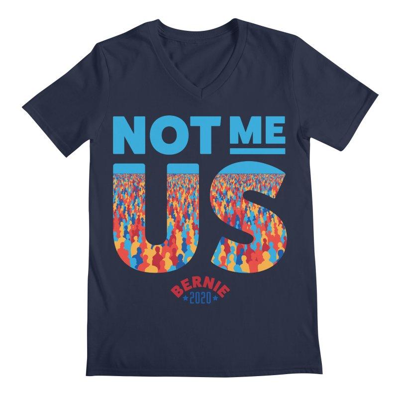 Not Me, Us 2020 (Text Version) Men's Regular V-Neck by Bernie Threads