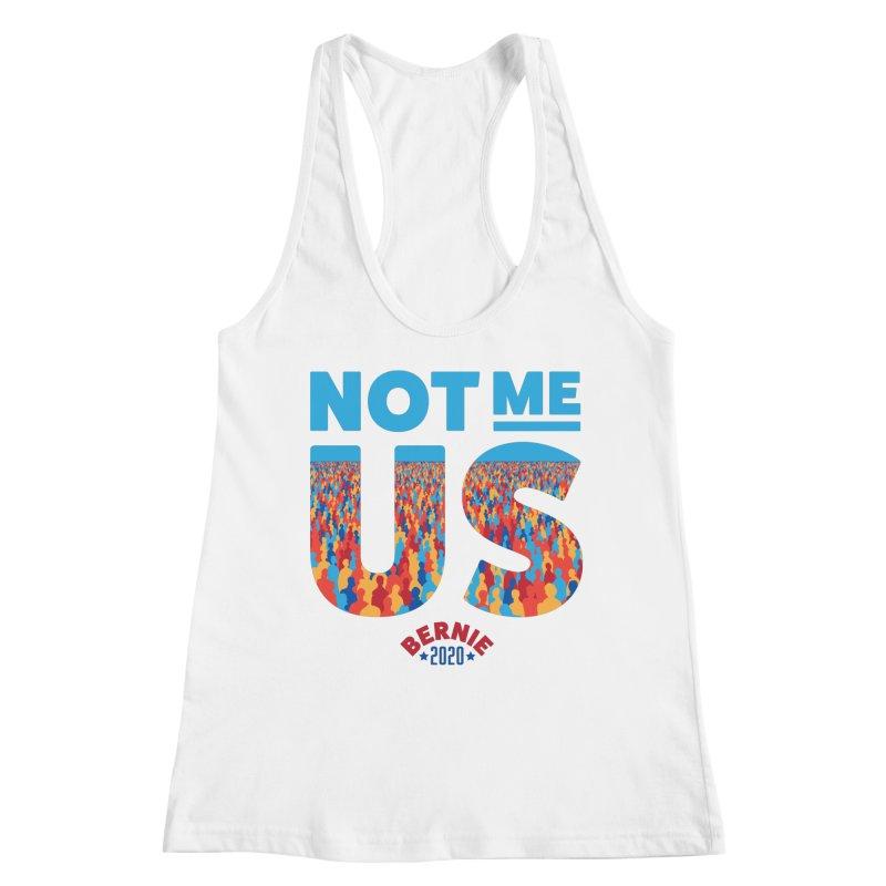 Not Me, Us 2020 (Text Version) Women's Racerback Tank by Bernie Threads
