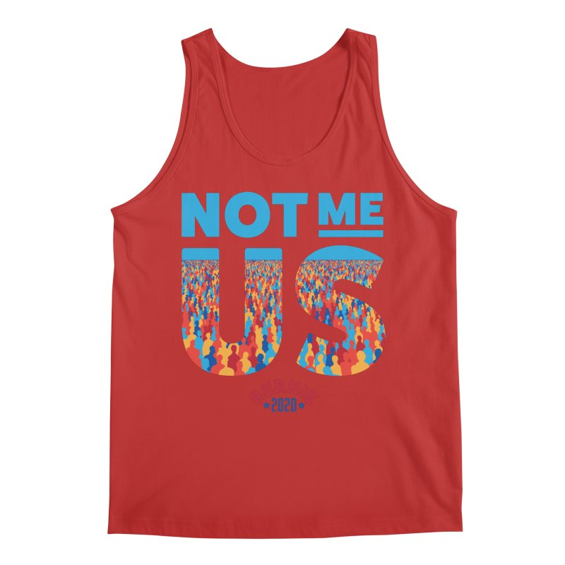 Not Me, Us 2020 (Text Version) Men's Regular Tank by Bernie Threads