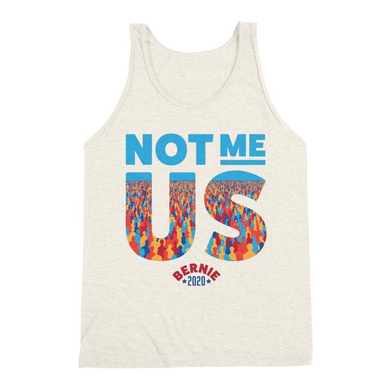 Not Me, Us 2020 (Text Version) Men's Triblend Tank by Bernie Threads