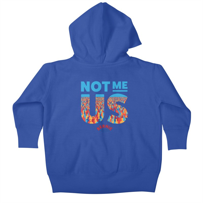 Not Me, Us 2020 (Text Version) Kids Baby Zip-Up Hoody by Bernie Threads
