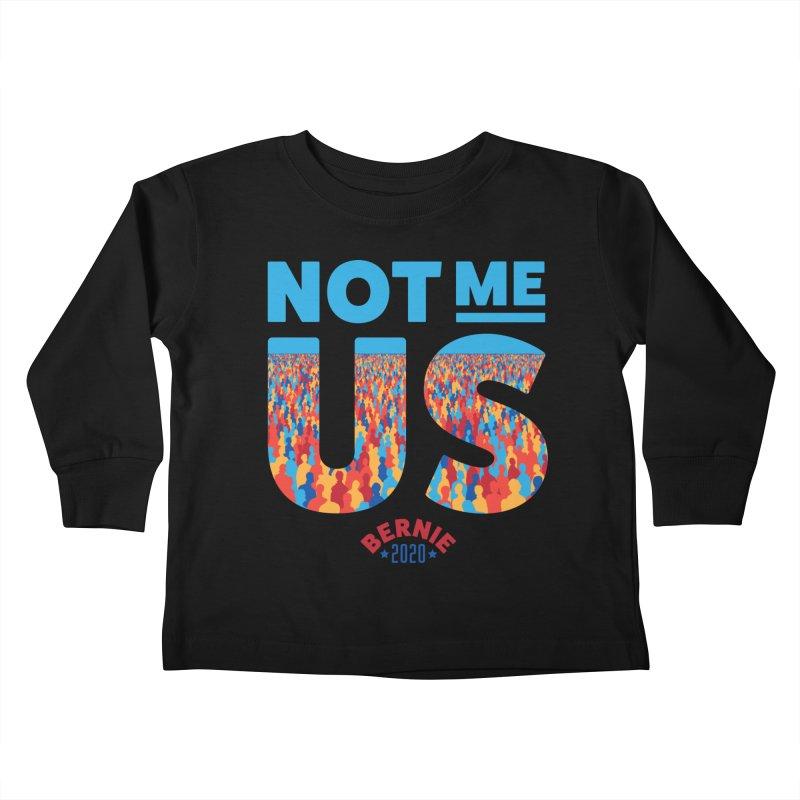 Not Me, Us 2020 (Text Version) Kids Toddler Longsleeve T-Shirt by Bernie Threads