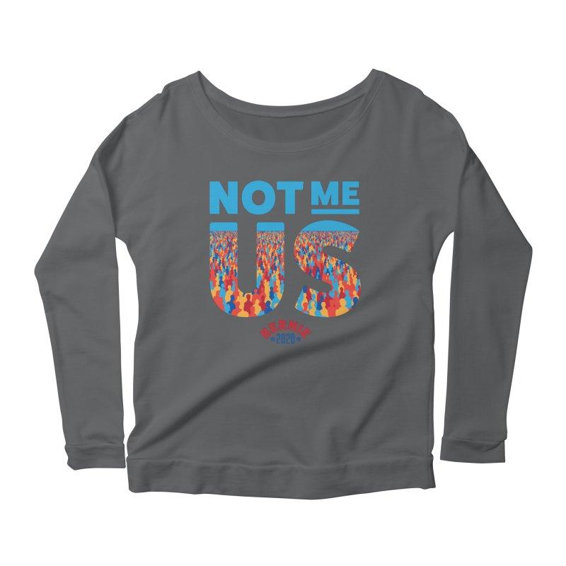 Not Me, Us 2020 (Text Version) Women's Scoop Neck Longsleeve T-Shirt by Bernie Threads