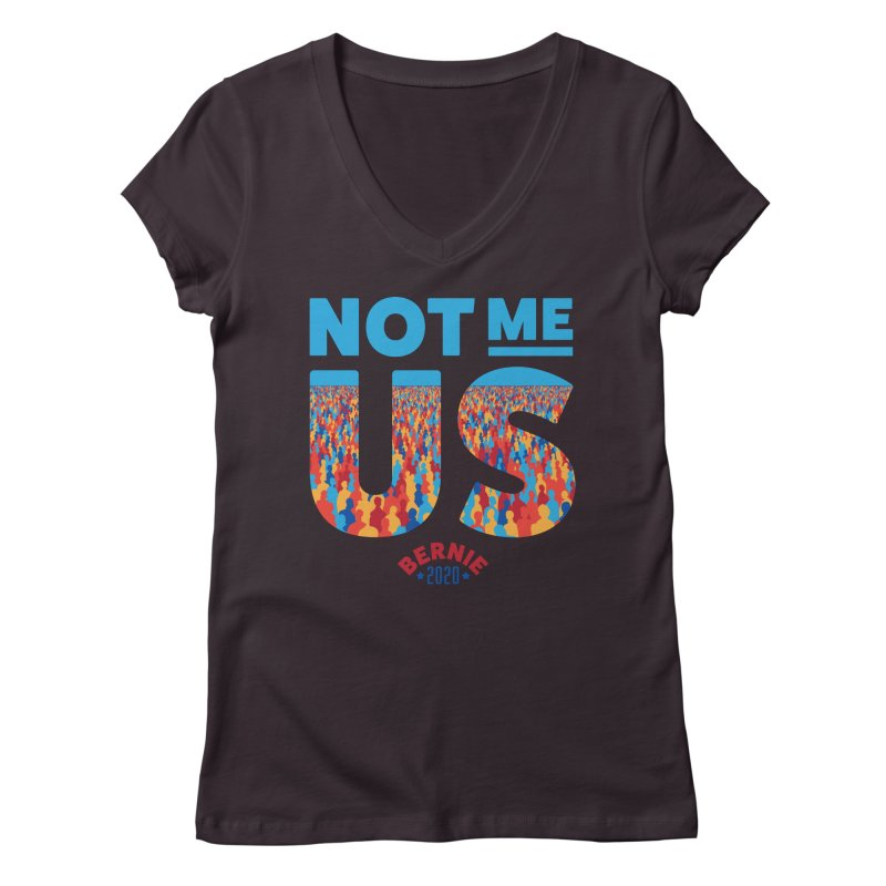 Not Me, Us 2020 (Text Version) Women's Regular V-Neck by Bernie Threads