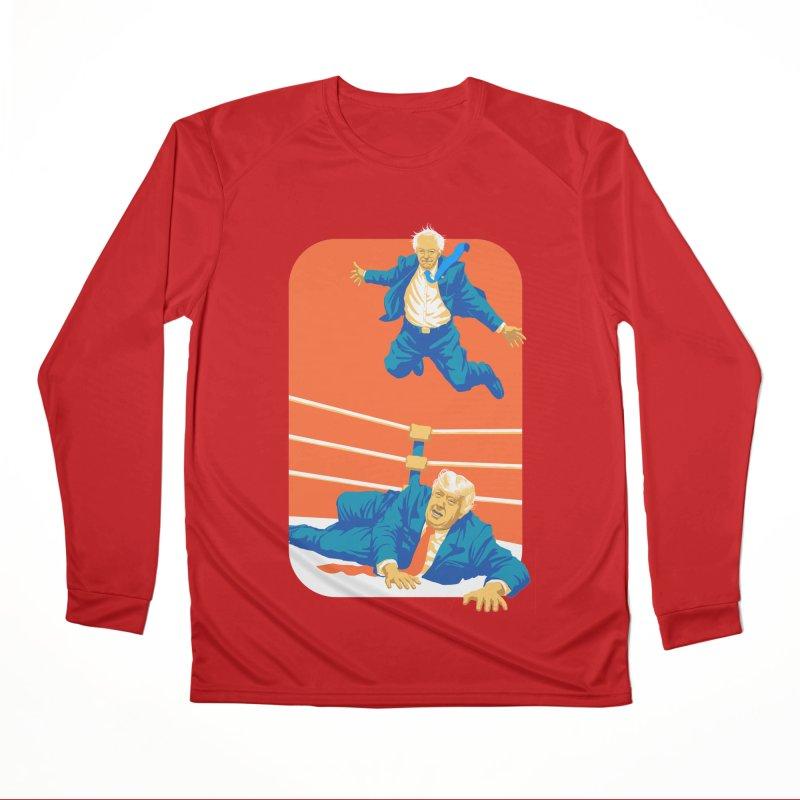 Bernie Off The Top Rope Men's Performance Longsleeve T-Shirt by Bernie Threads