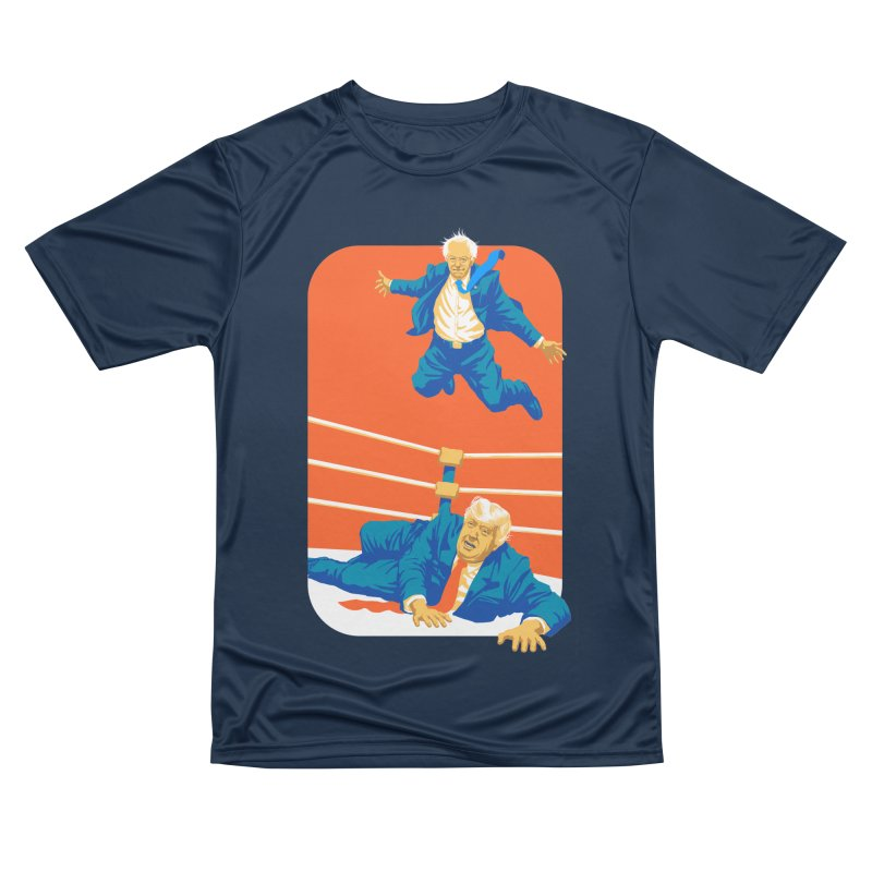 Bernie Off The Top Rope Men's Performance T-Shirt by Bernie Threads