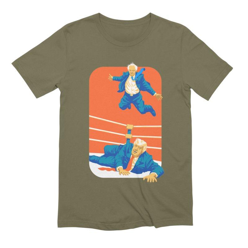 Bernie Off The Top Rope Men's Extra Soft T-Shirt by Bernie Threads