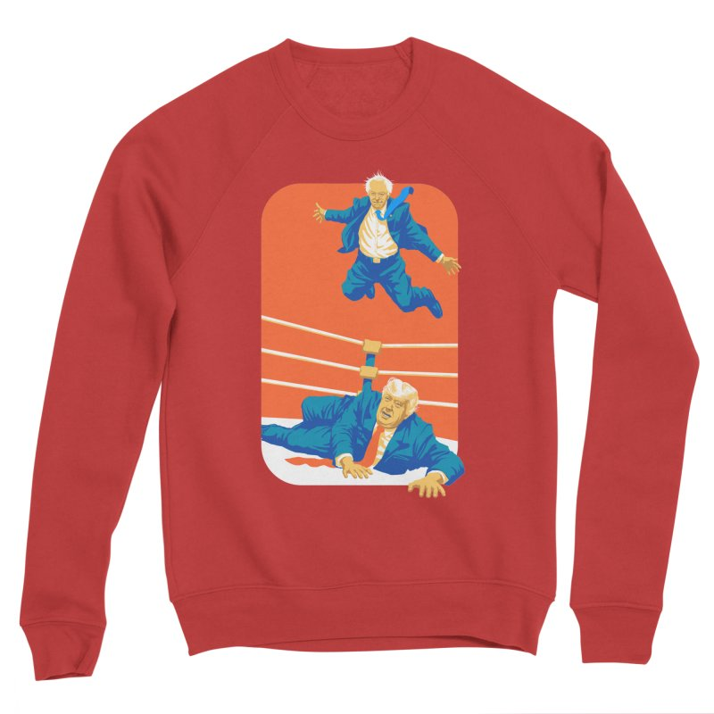 Bernie Off The Top Rope Men's Sponge Fleece Sweatshirt by Bernie Threads