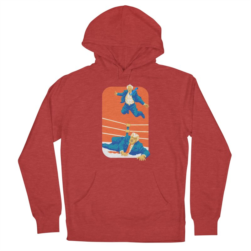 Bernie Off The Top Rope Women's French Terry Pullover Hoody by Bernie Threads