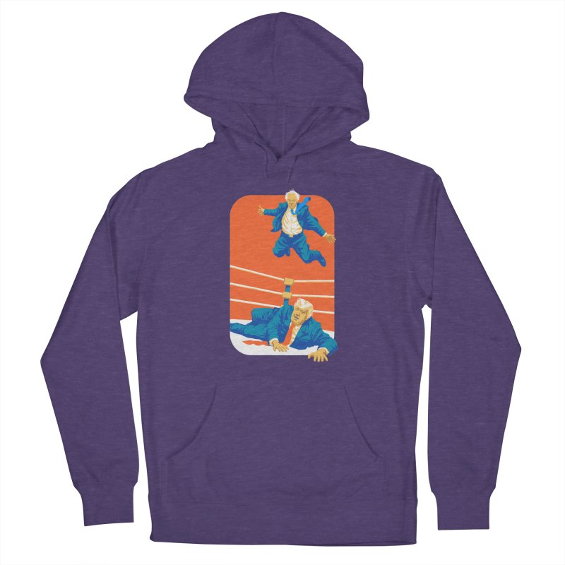 Bernie Off The Top Rope Men's French Terry Pullover Hoody by Bernie Threads
