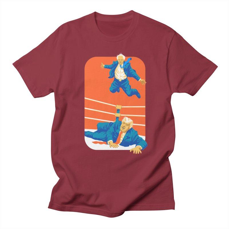 Bernie Off The Top Rope Men's Regular T-Shirt by Bernie Threads