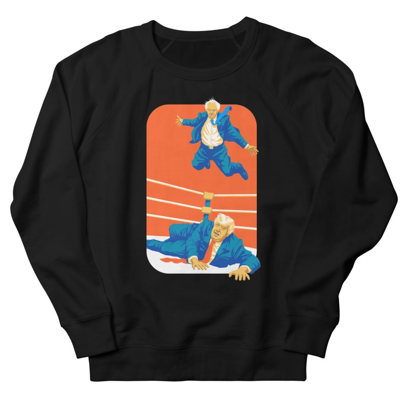 Bernie Off The Top Rope Women's French Terry Sweatshirt by Bernie Threads