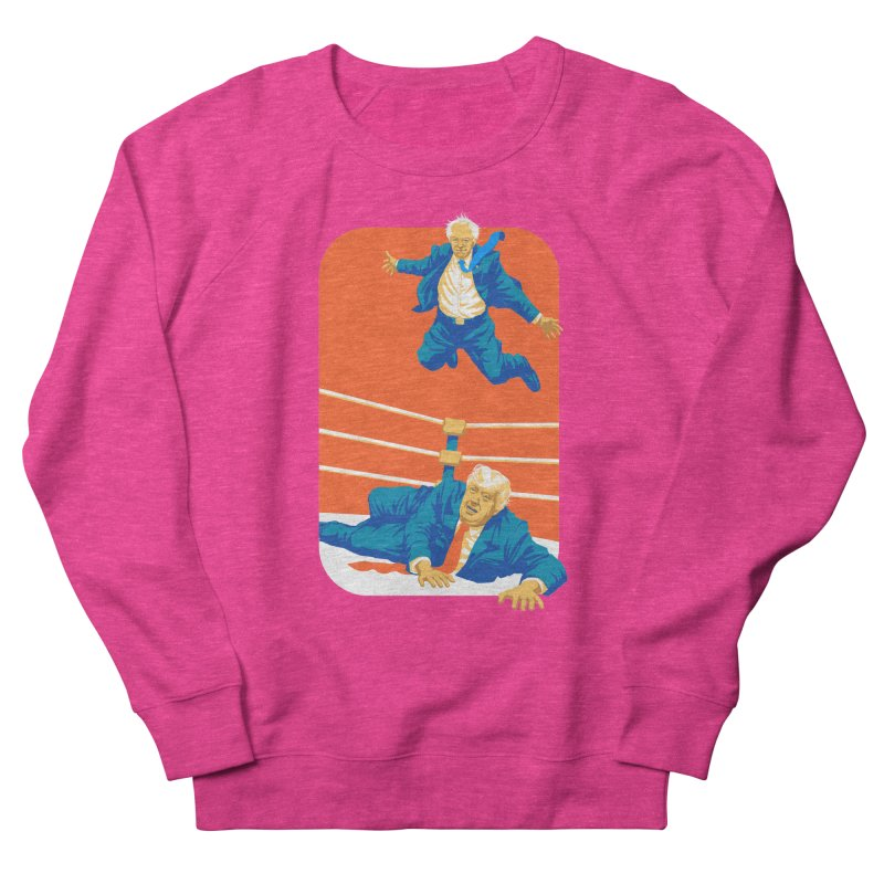 Bernie Off The Top Rope Men's French Terry Sweatshirt by Bernie Threads