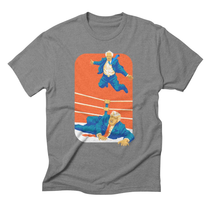 Bernie Off The Top Rope Men's Triblend T-Shirt by Bernie Threads