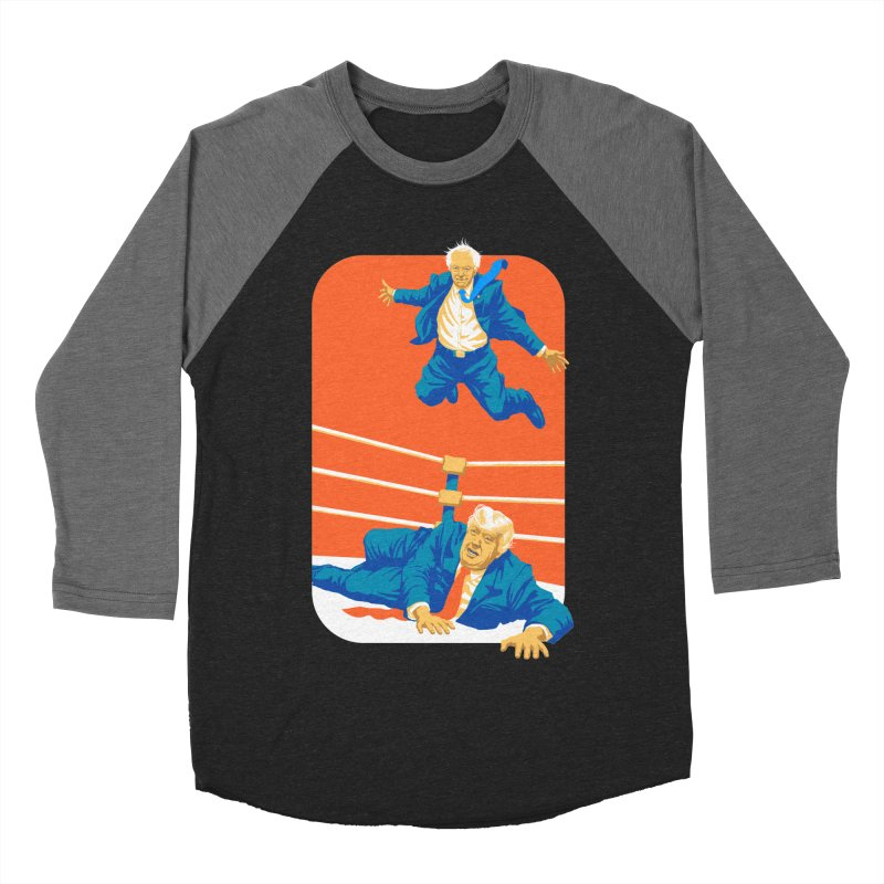 Bernie Off The Top Rope Men's Baseball Triblend Longsleeve T-Shirt by Bernie Threads