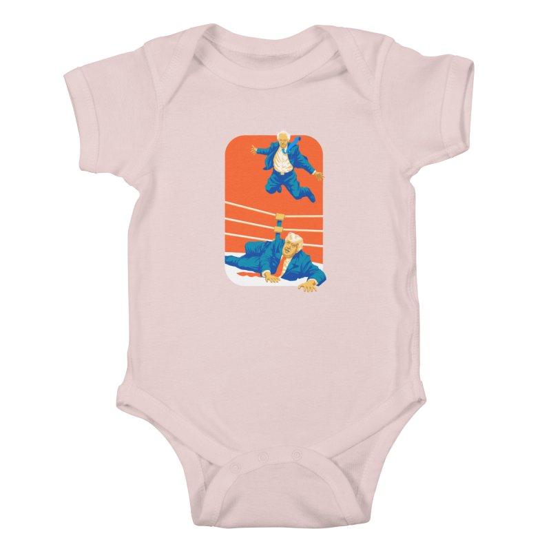 Bernie Off The Top Rope Kids Baby Bodysuit by Bernie Threads