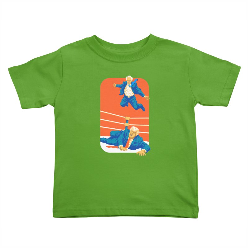 Bernie Off The Top Rope Kids Toddler T-Shirt by Bernie Threads