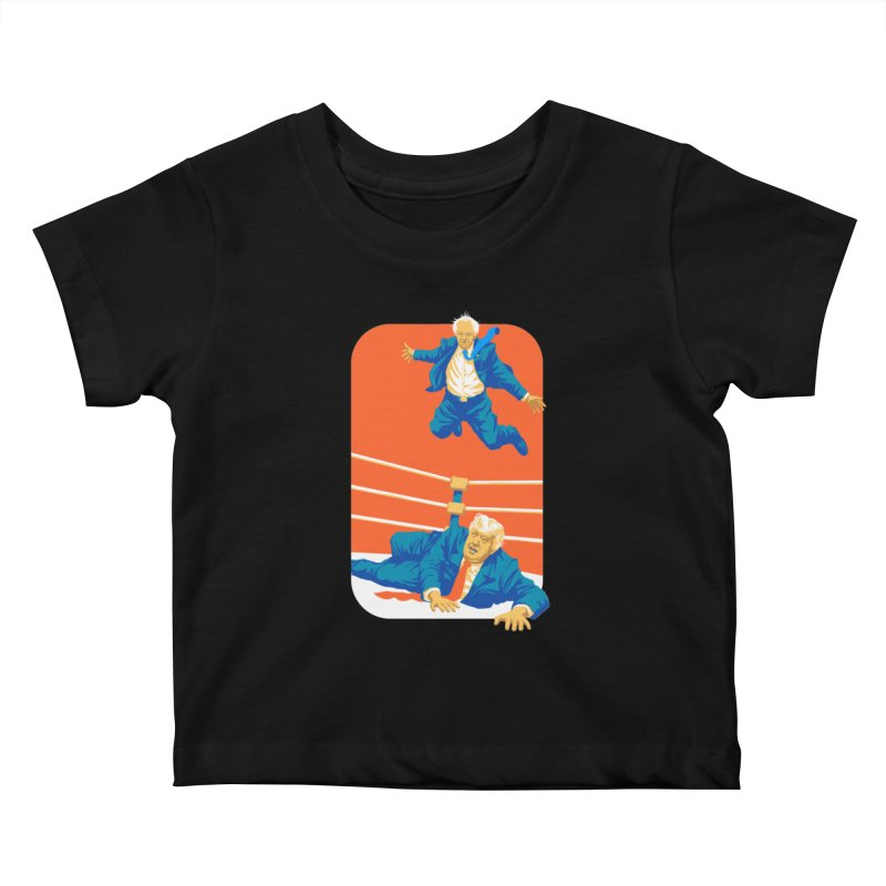 Bernie Off The Top Rope Kids Baby T-Shirt by Bernie Threads