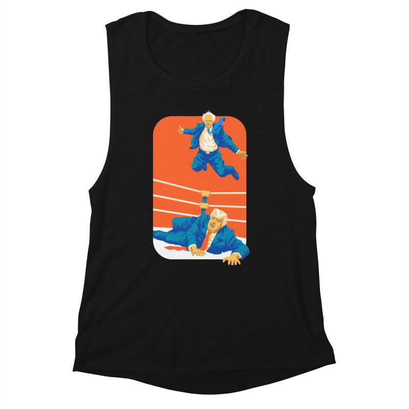 Bernie Off The Top Rope Women's Muscle Tank by Bernie Threads