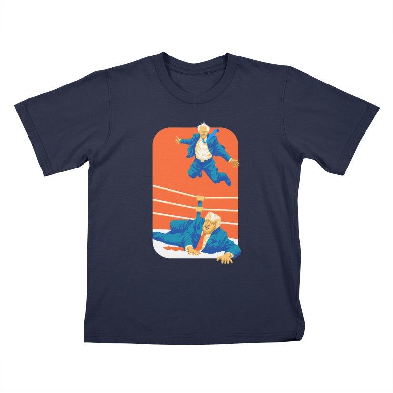 Bernie Off The Top Rope Kids T-Shirt by Bernie Threads