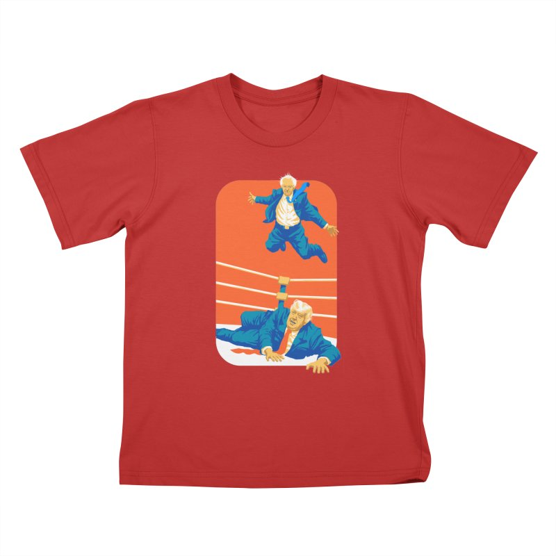 Bernie Off The Top Rope Kids T-Shirt by Bernie Threads